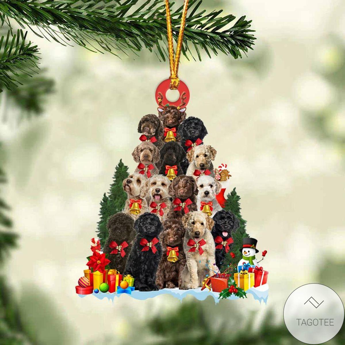 Labradoodle Dog Christmas Tree Ornament