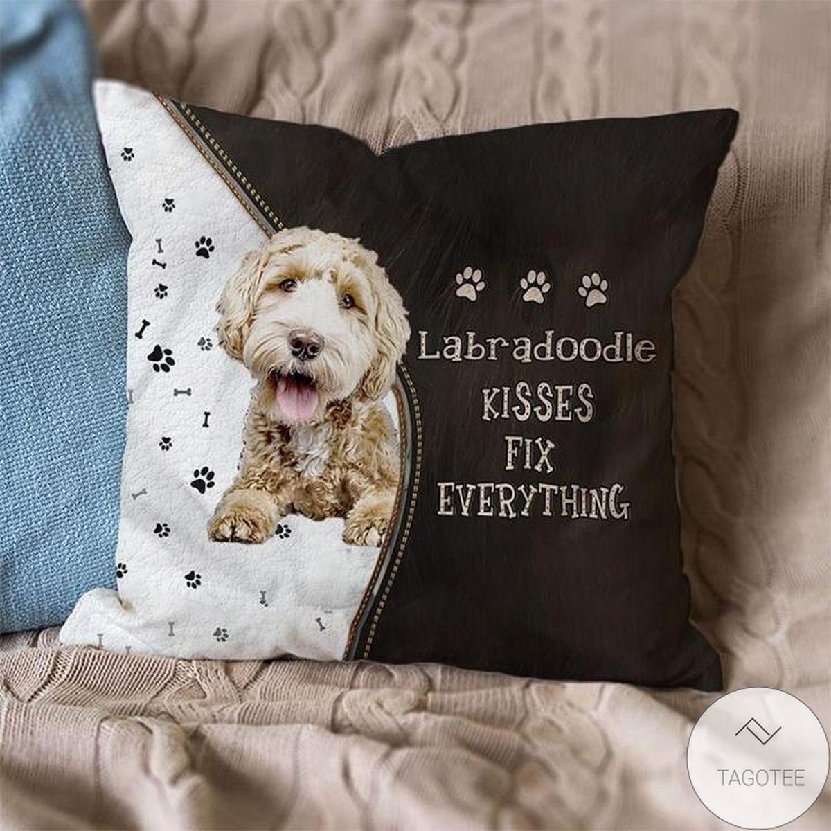 Labradoodle Kisses Fix Everything Pillowcase