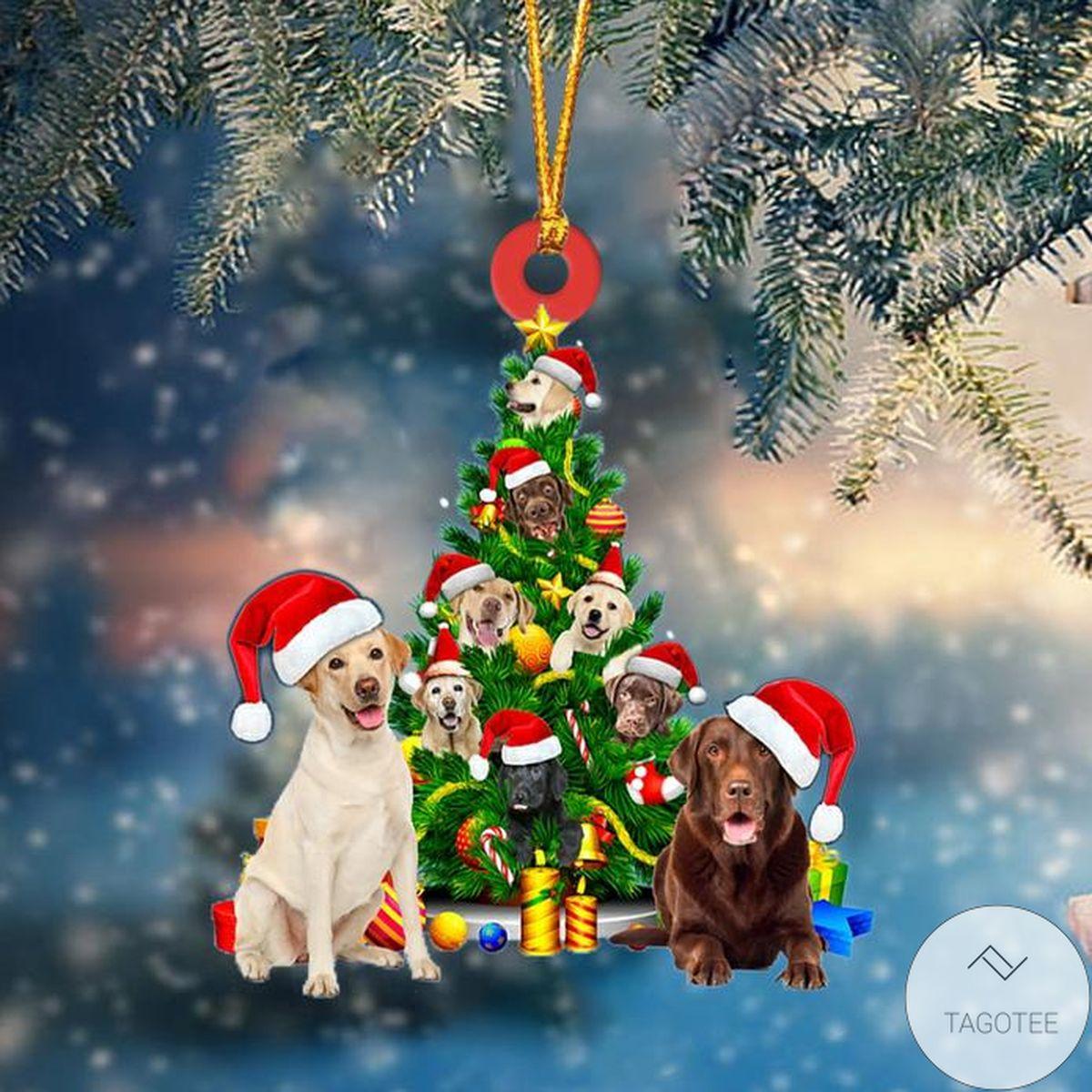 Labrador Retriever Dog Christmas Tree Ornament