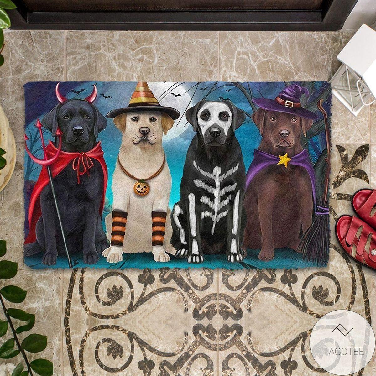 Labrador Retriever Halloween Doormat