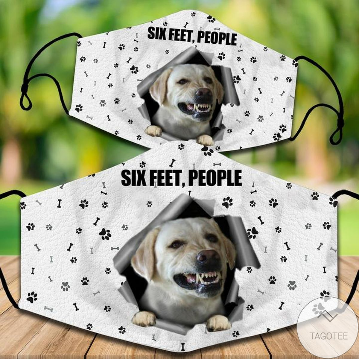 Labrador Retriever Six Feet People Face Mask