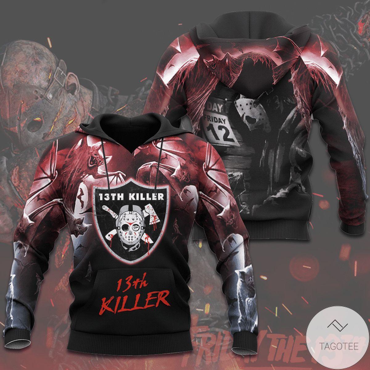 Top Las Vegas Raiders 13th Killer Halloween 3d Hoodie