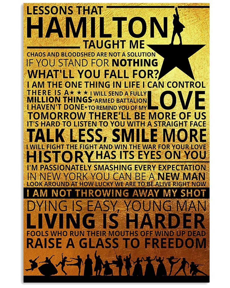 Lessons Hamilton Taught Me Poster