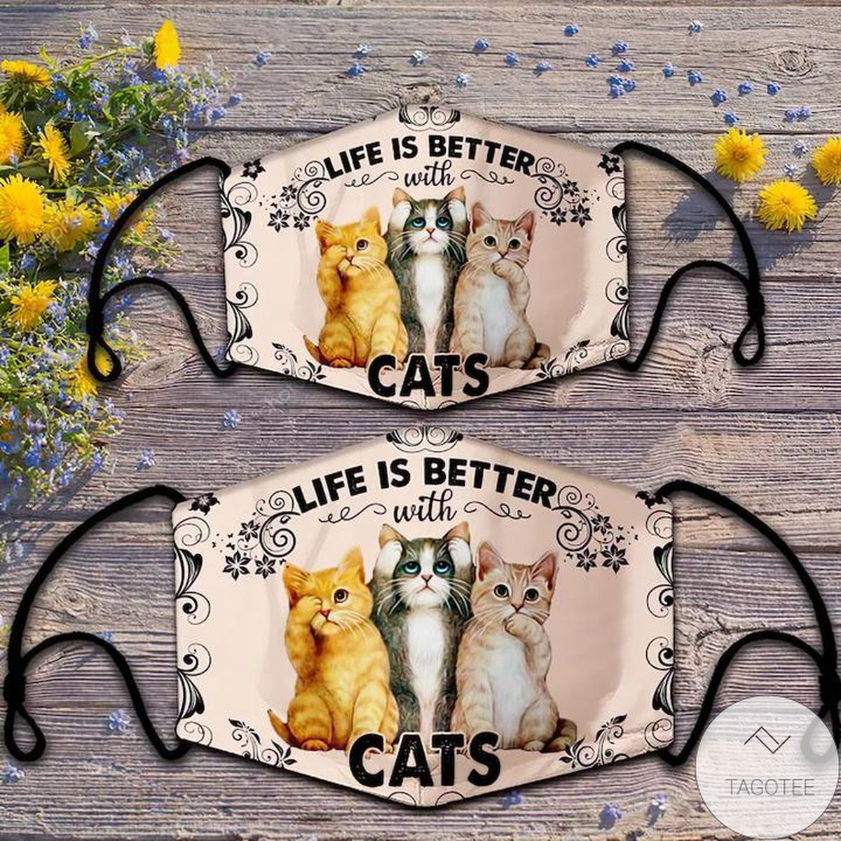 Life Is Better With Cats Cloth Face Mask