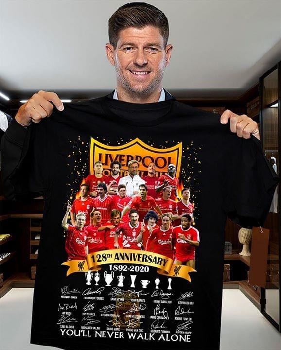 Liverpool FC 128th Anniversary 1892-2020 shirt