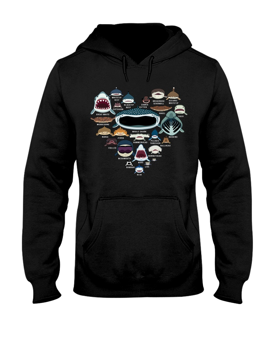 Love Shark Faces hoodie