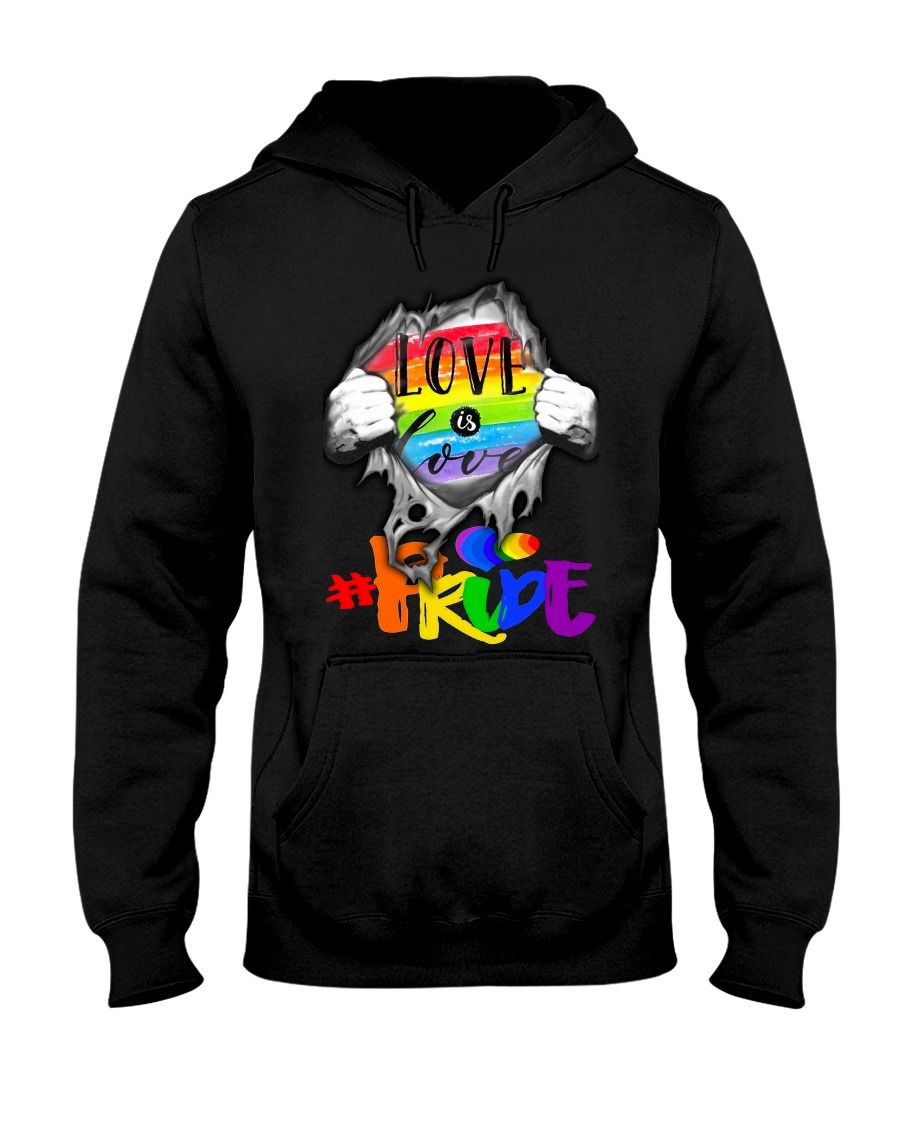 Love is Love LGBT pride hoodie