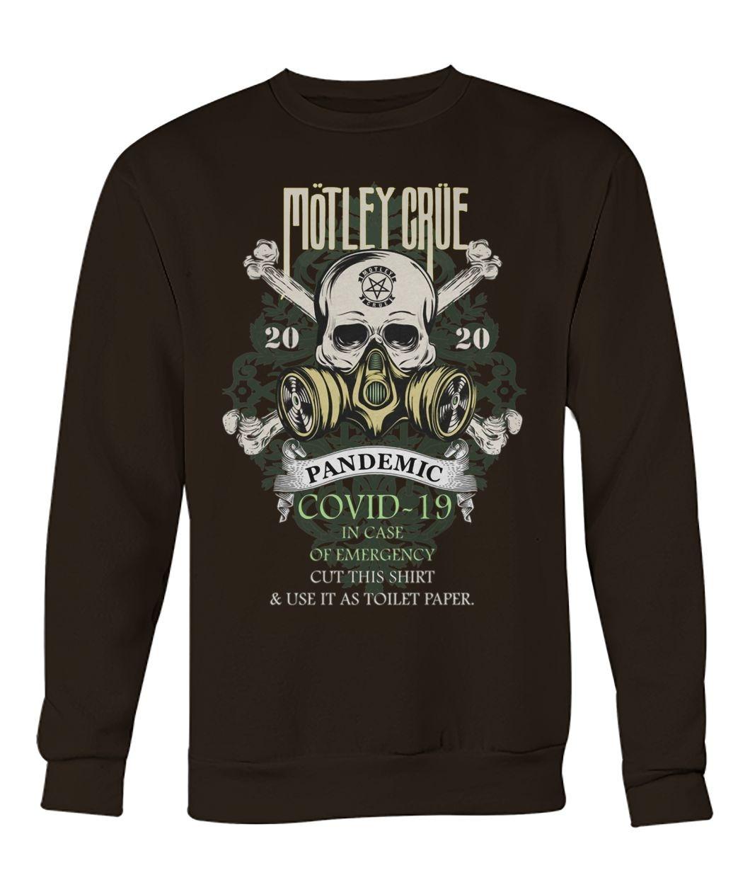 Mötley Crüe 2020 Covid-19 Pandemic Skull Sweatshirt