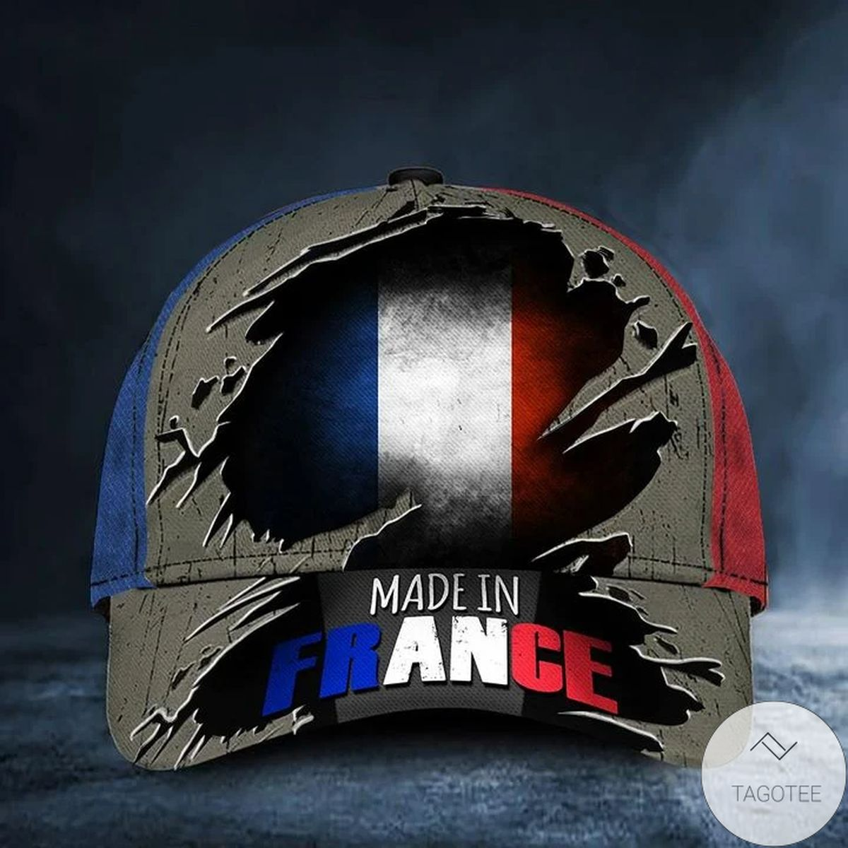 Made In France Vintage Old Retro Patriotic French Flag Cap