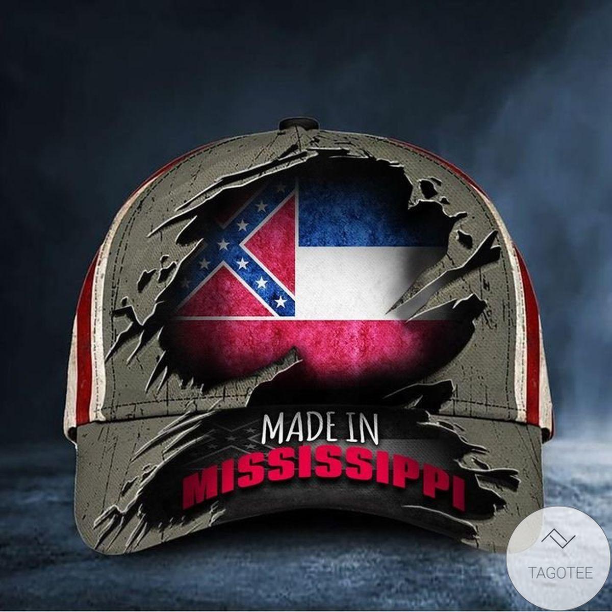 Made In Mississippi Hat Vintage Old Mississippi Flag Cap Patriotic Gifts For Him