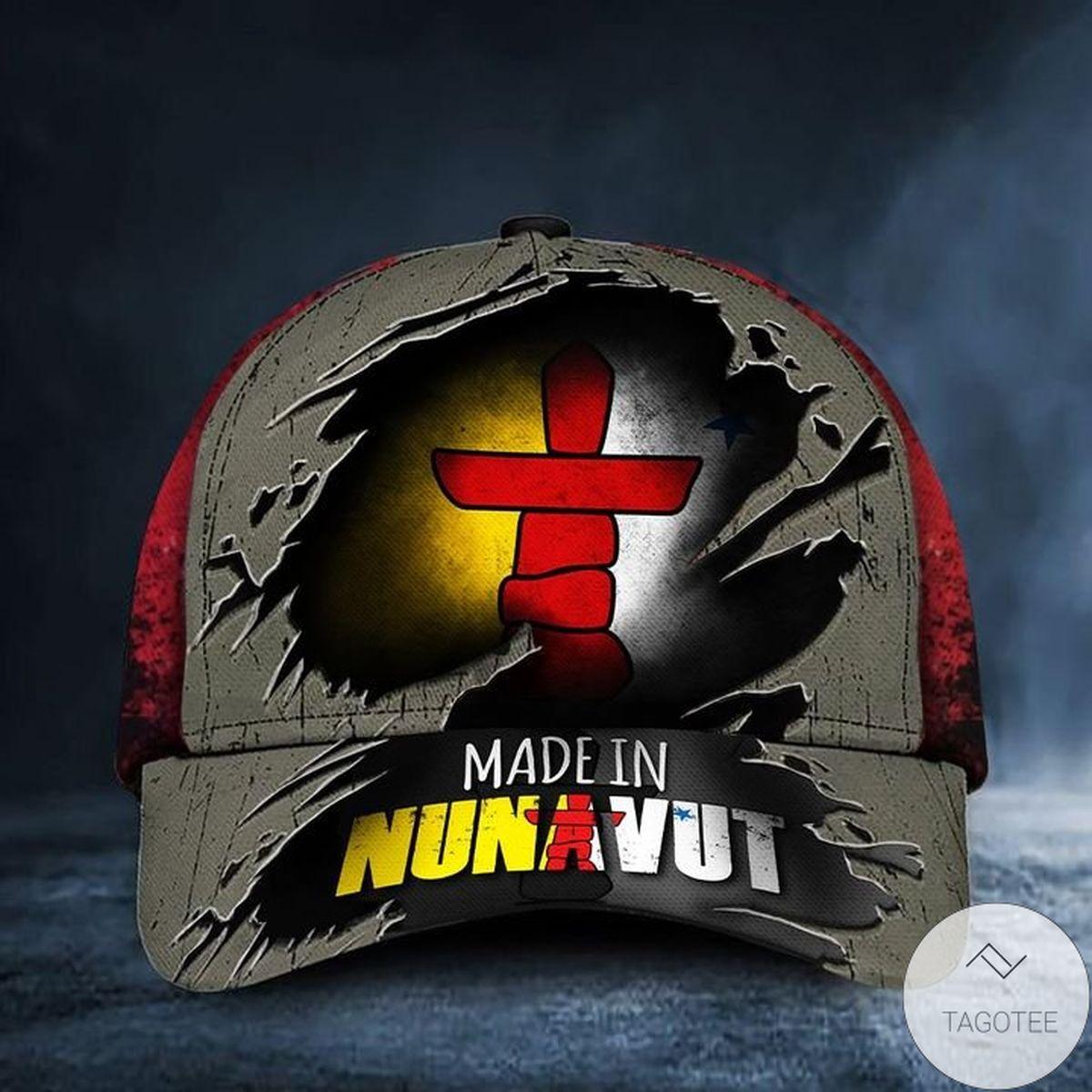 Made In Nunavut Canada Flag Hat Vintage Old Retro Patriotic Proud Nunavut Territory Cap