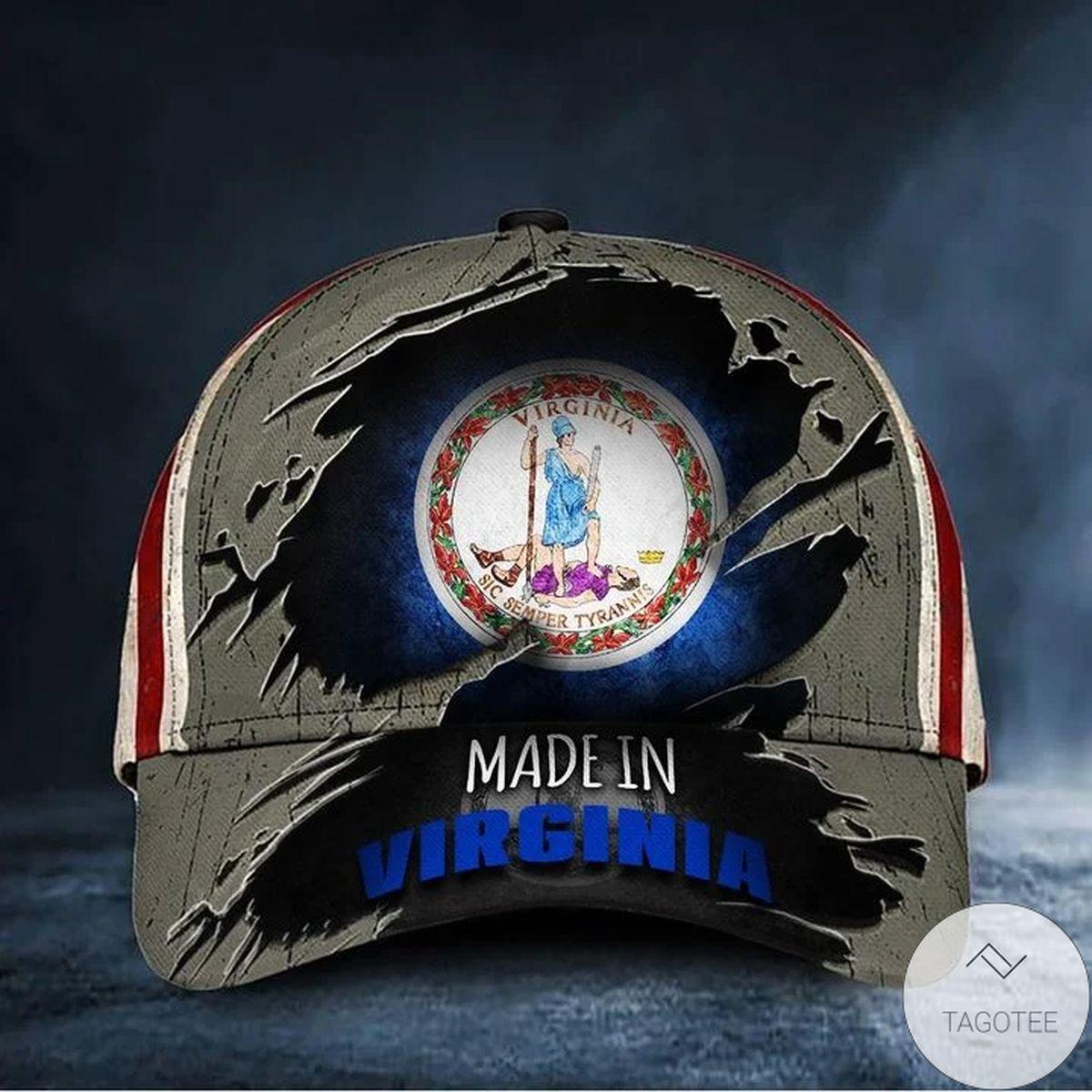Made In Virginia Hat Patriotic Baseball Cap