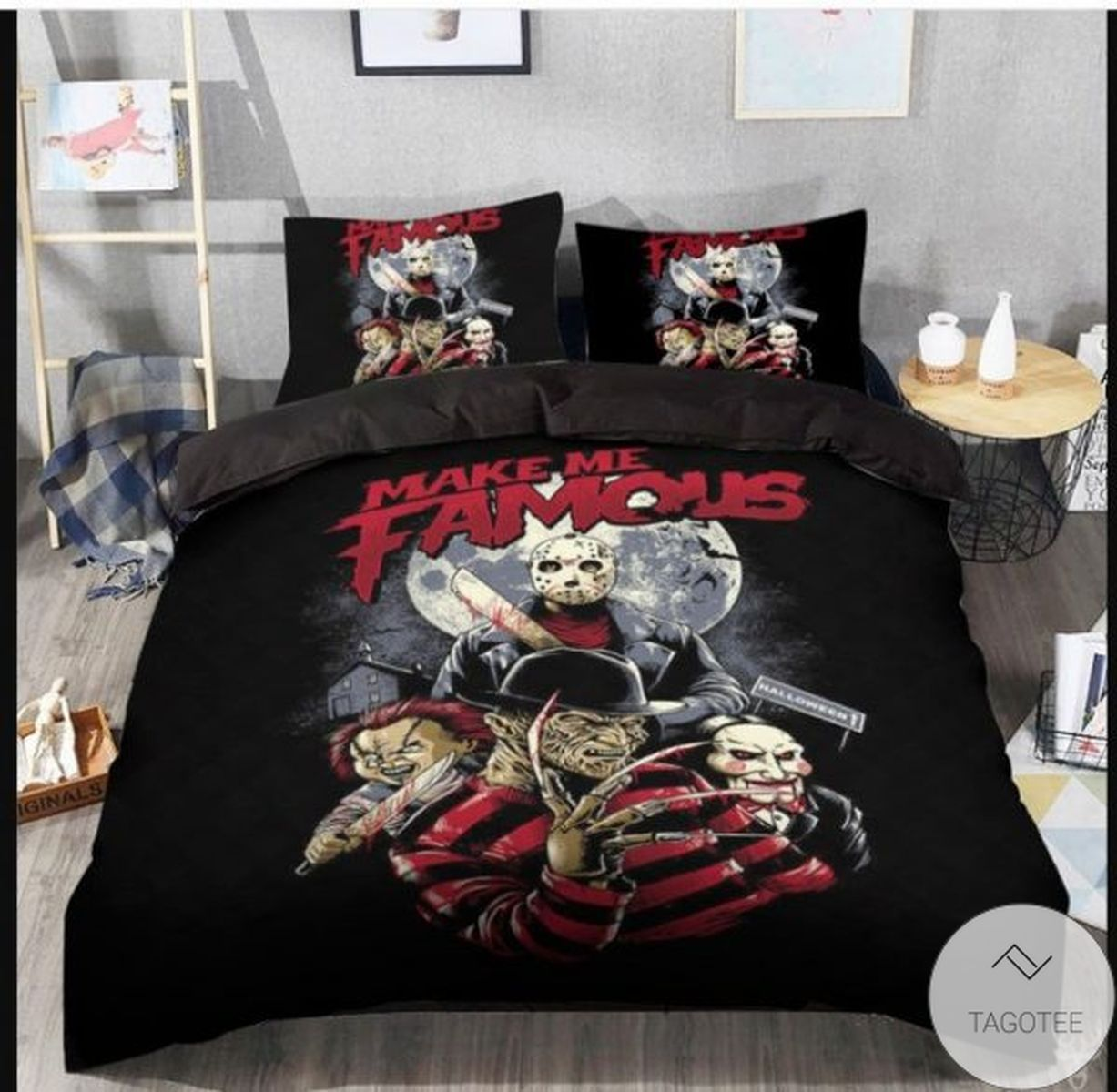 Make Me Famous Horror Movie Characters Bedding Set