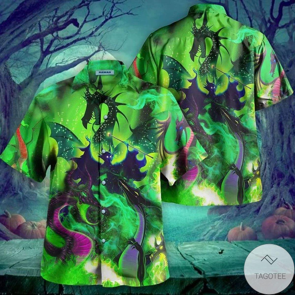 Top Selling Maleficent Dragon Hawaii Hawaiian Shirt