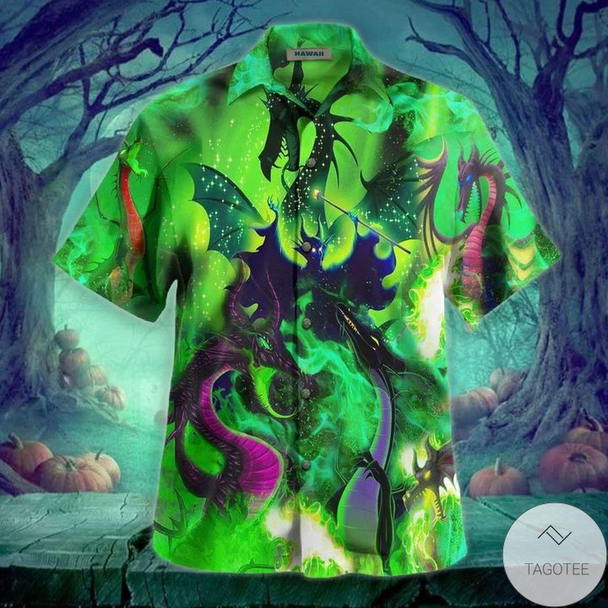 Hot Deal Maleficent Dragon Hawaii Hawaiian Shirt