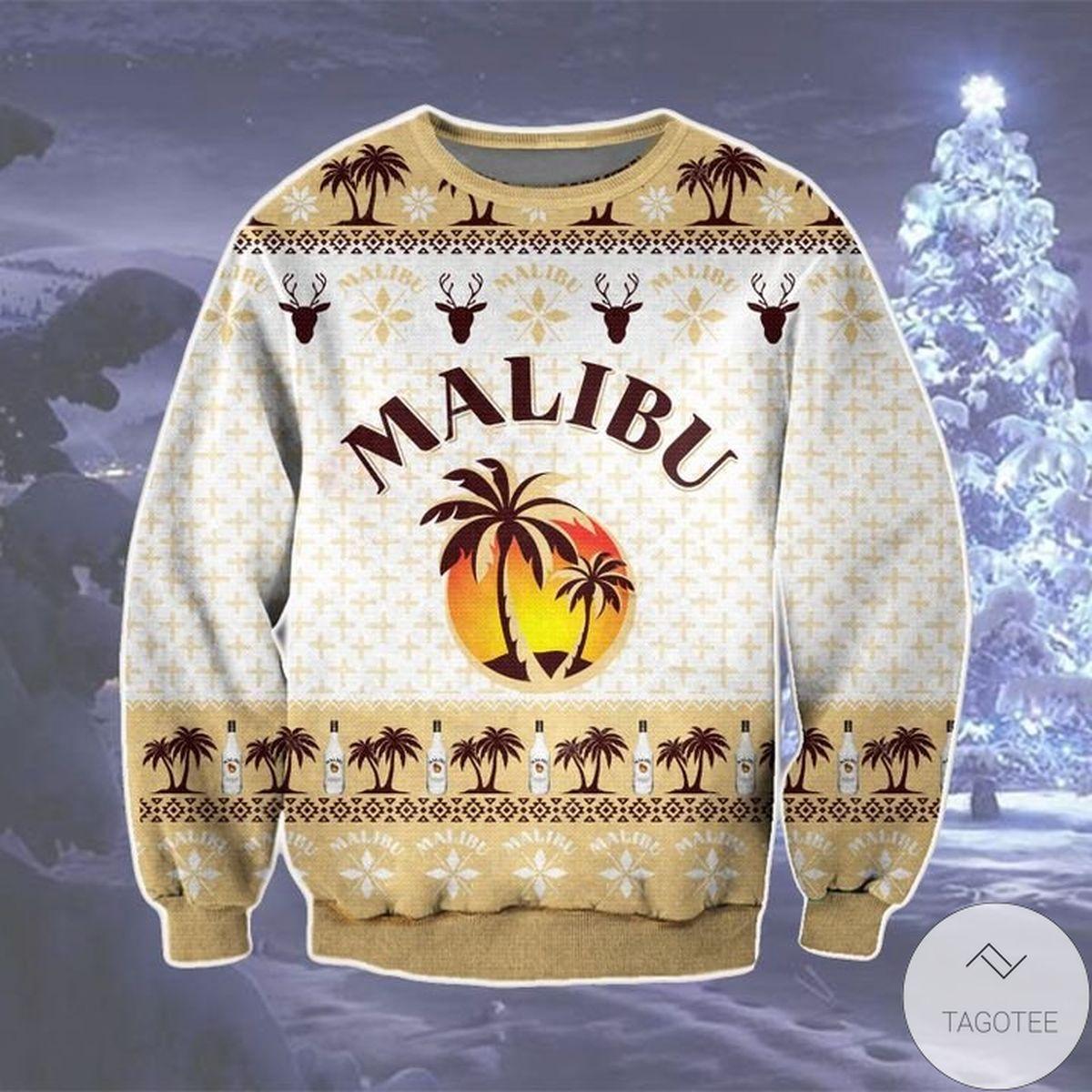 Real Malibu Ugly Christmas Sweater