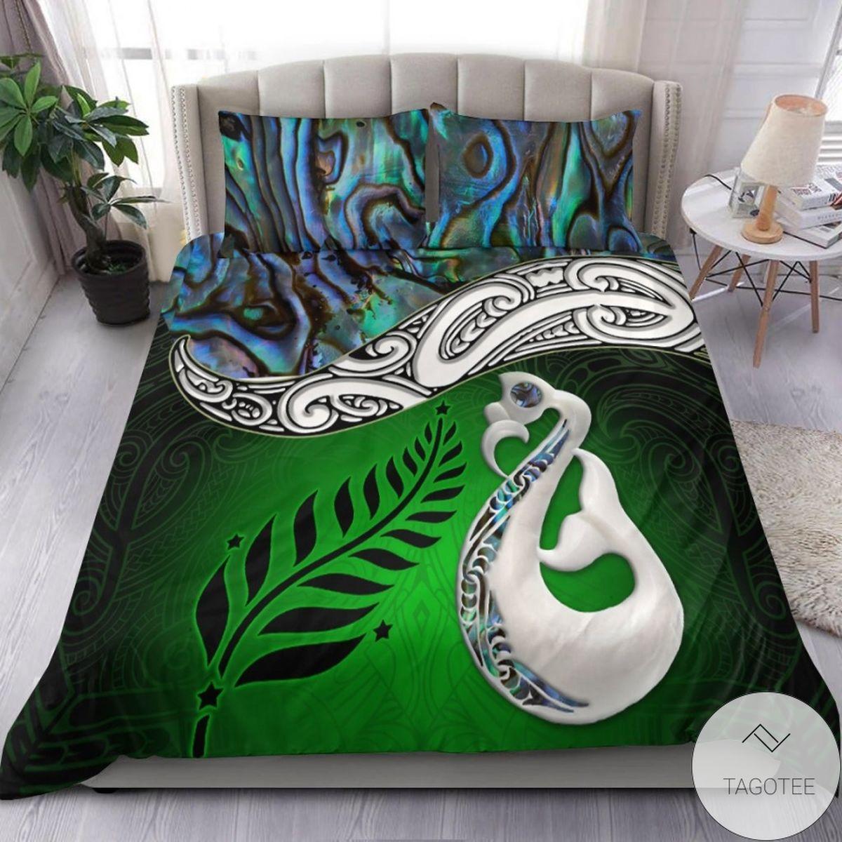 Manaia Maori Green Bedding Set