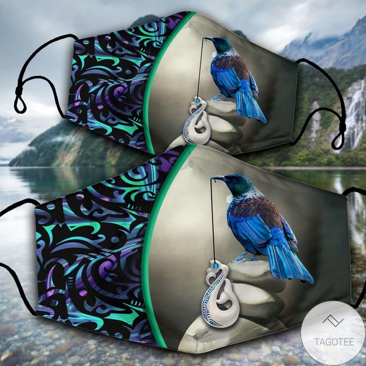 Manaia Tui Bird Face Mask