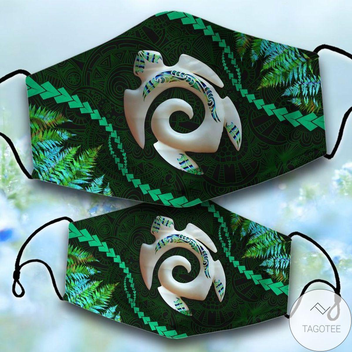 Manaia Turtle Face Mask