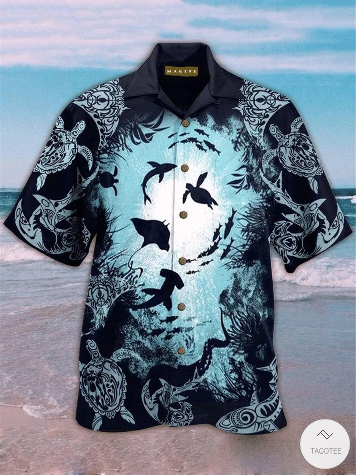 Marine Ocean Hawaiian Shirt