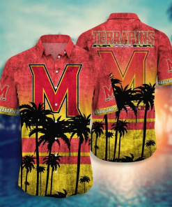 Maryland Terrapins Tropical Hawaiian Shirt, Beach Short
