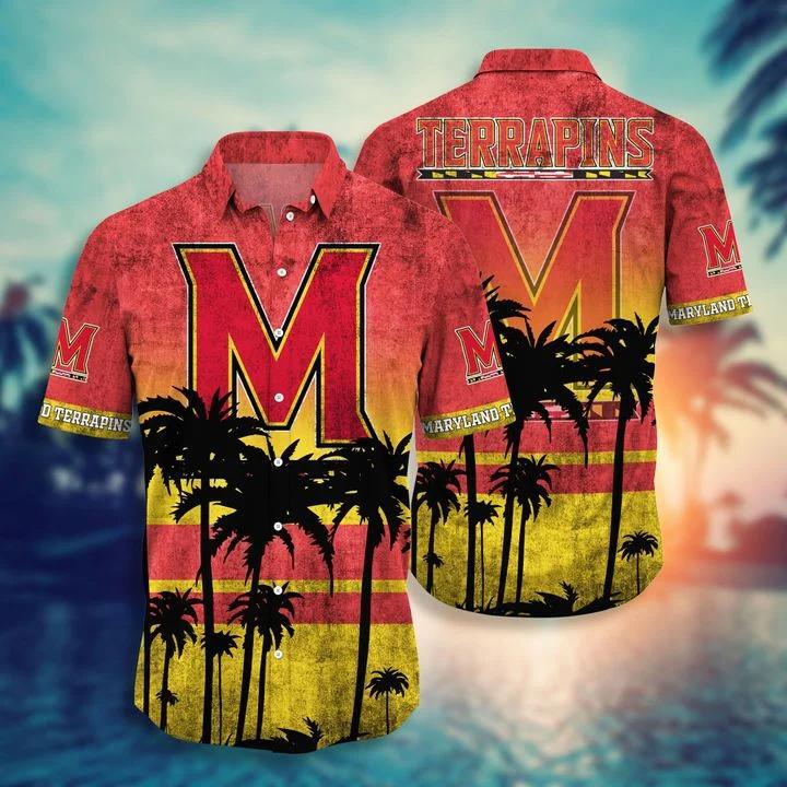 Great artwork! Maryland Terrapins Tropical Hawaiian Shirt, Beach Short