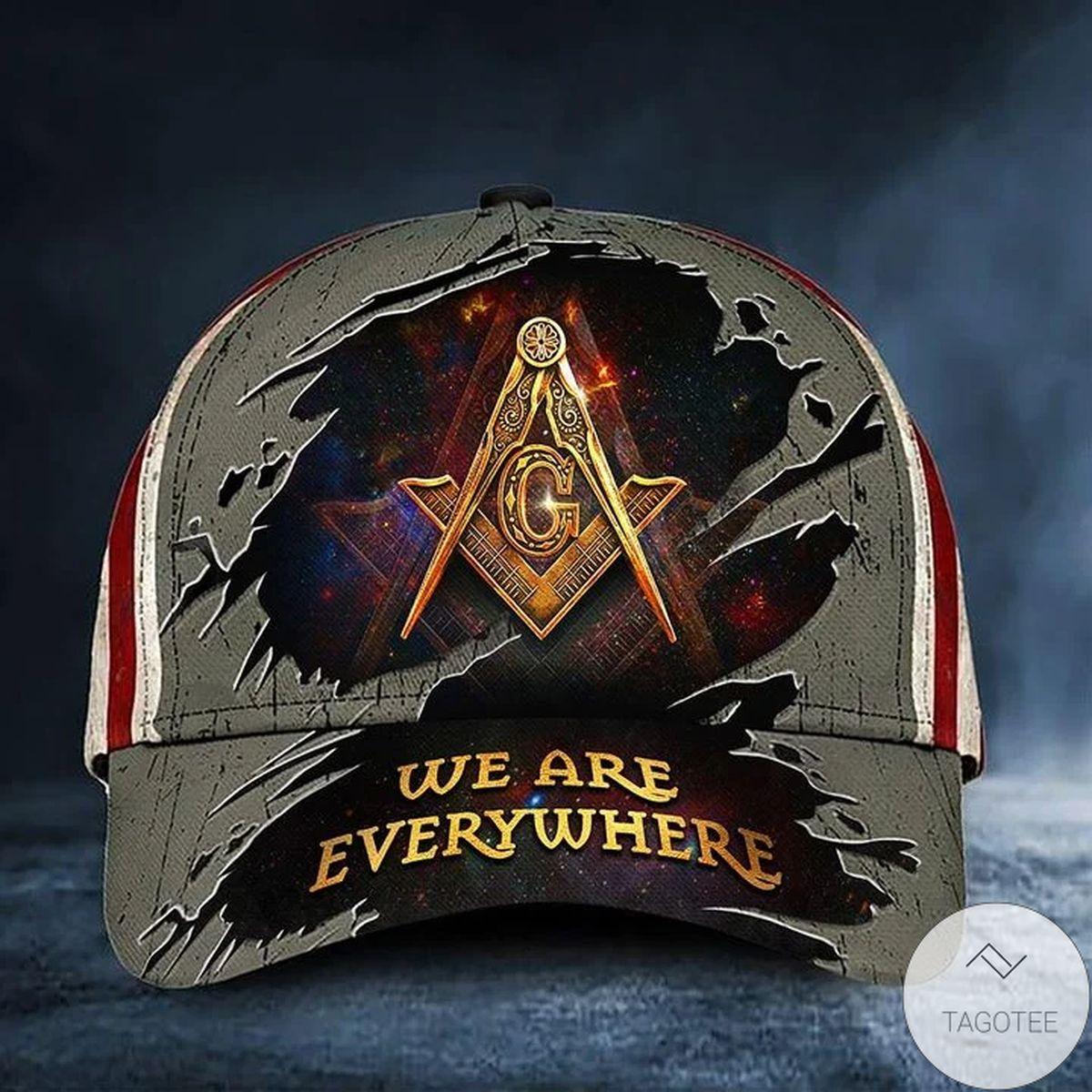 Masonic Hat We're Everywhere Usa Flag Freemason Cap
