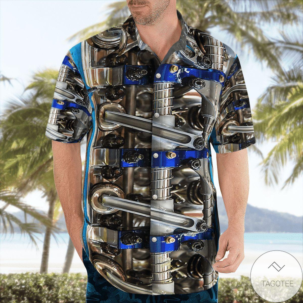 Mechanical Technician Hawaiian Shirt