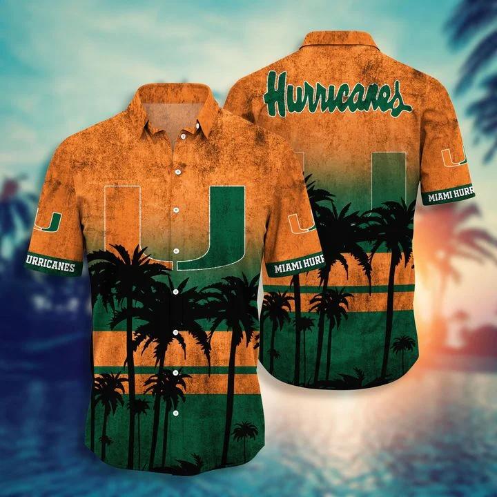 Hot Miami Hurricanes Hawaiian Shirt, Beach Short