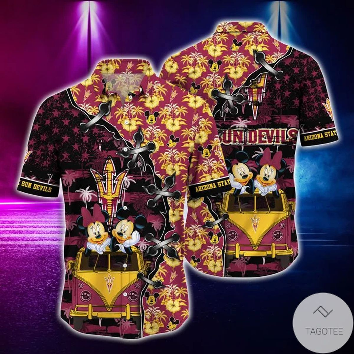 Mickey Mouse Arizona State Sun Devils NCAA Hawaiian Shirt