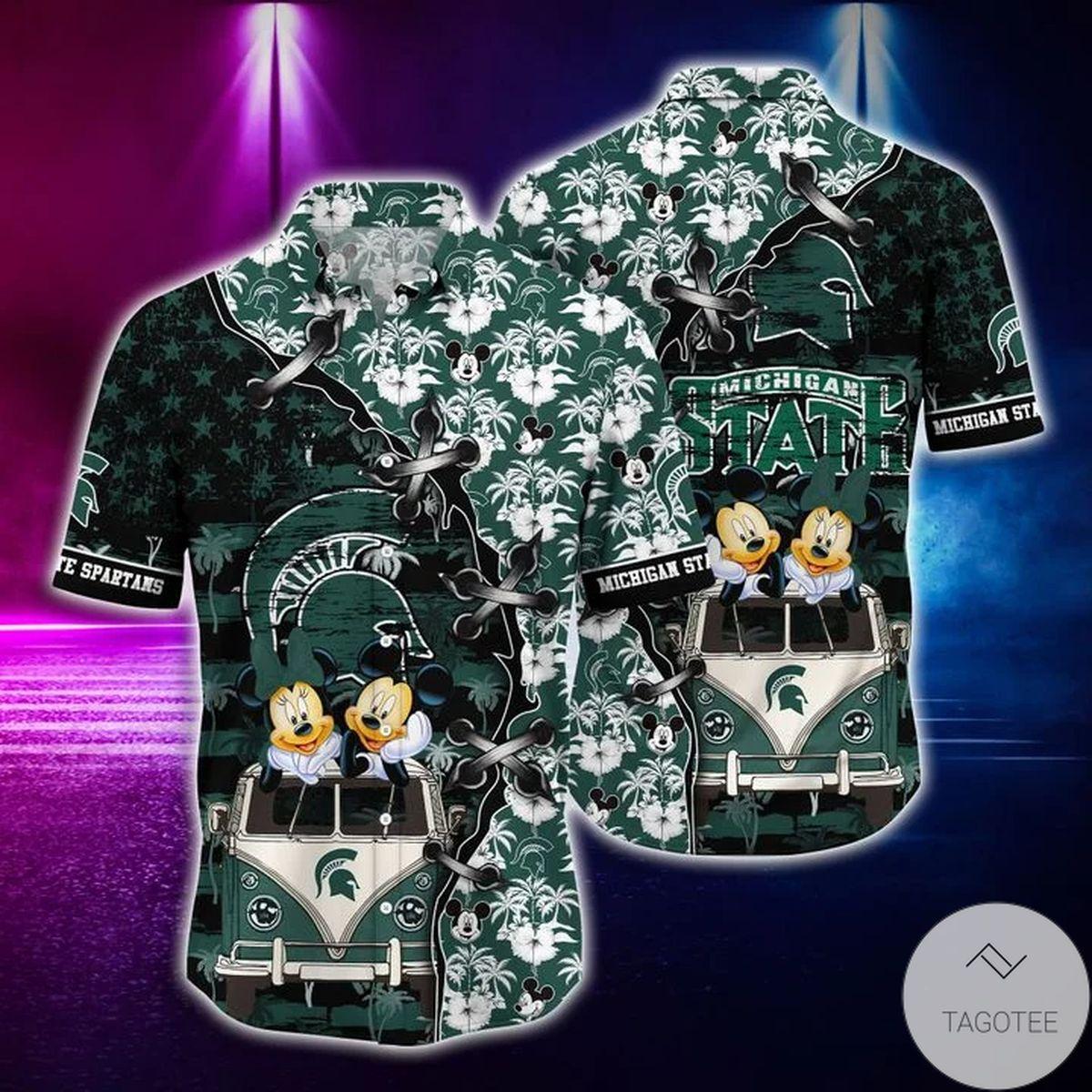 Mickey Mouse Michigan State Spartans NCAA Hawaiian Shirt