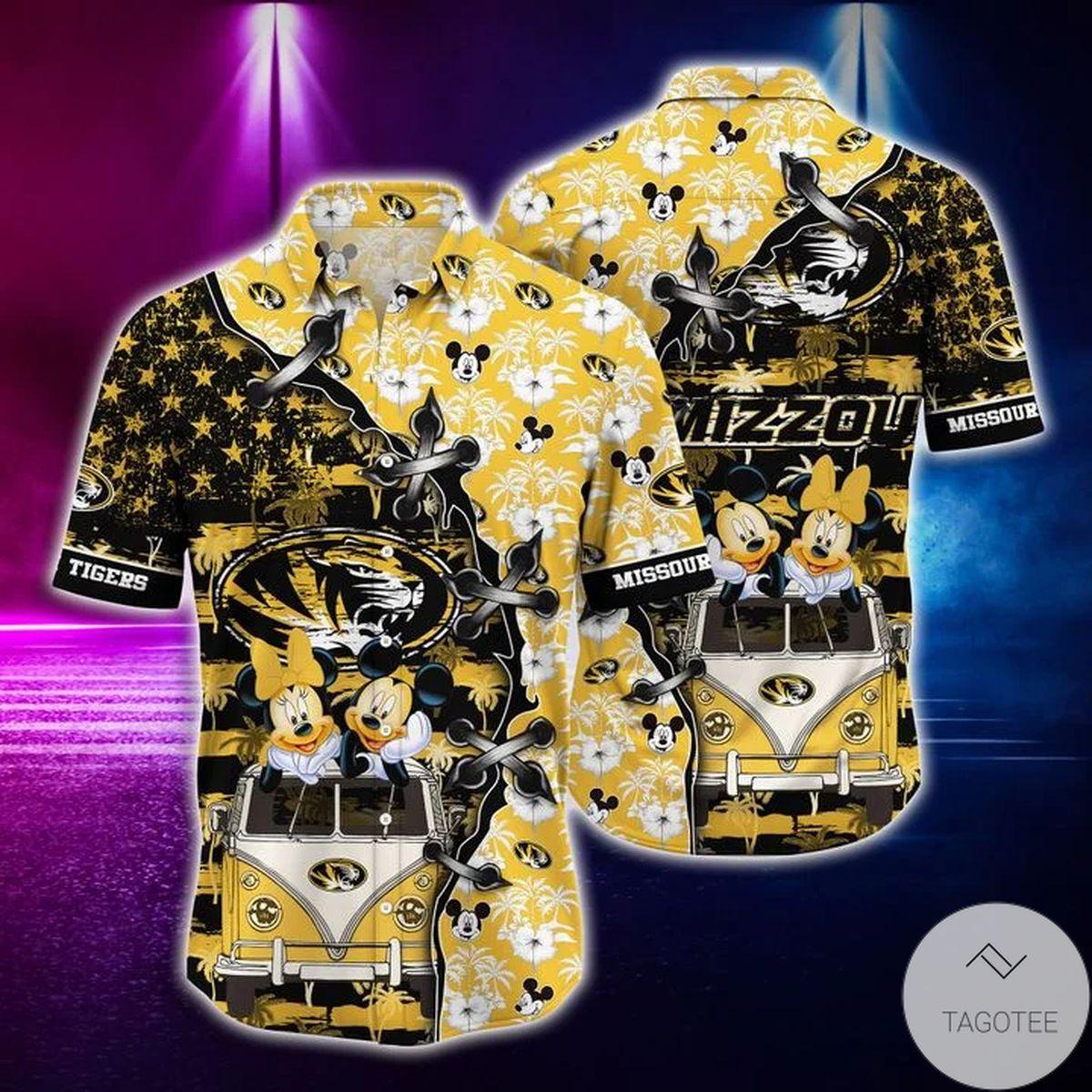 Mickey Mouse Missouri Tigers NCAA Hawaiian Shirt