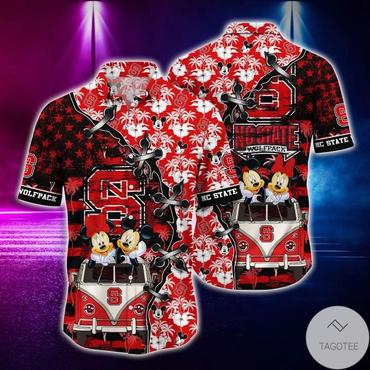 Mickey Mouse NC State Wolfpack NCAA Hawaiian Shirt