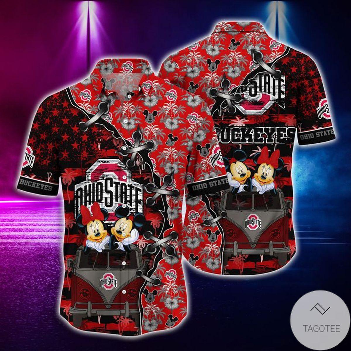 Mickey Mouse Ohio State Buckeyes NCAA Hawaiian Shirt