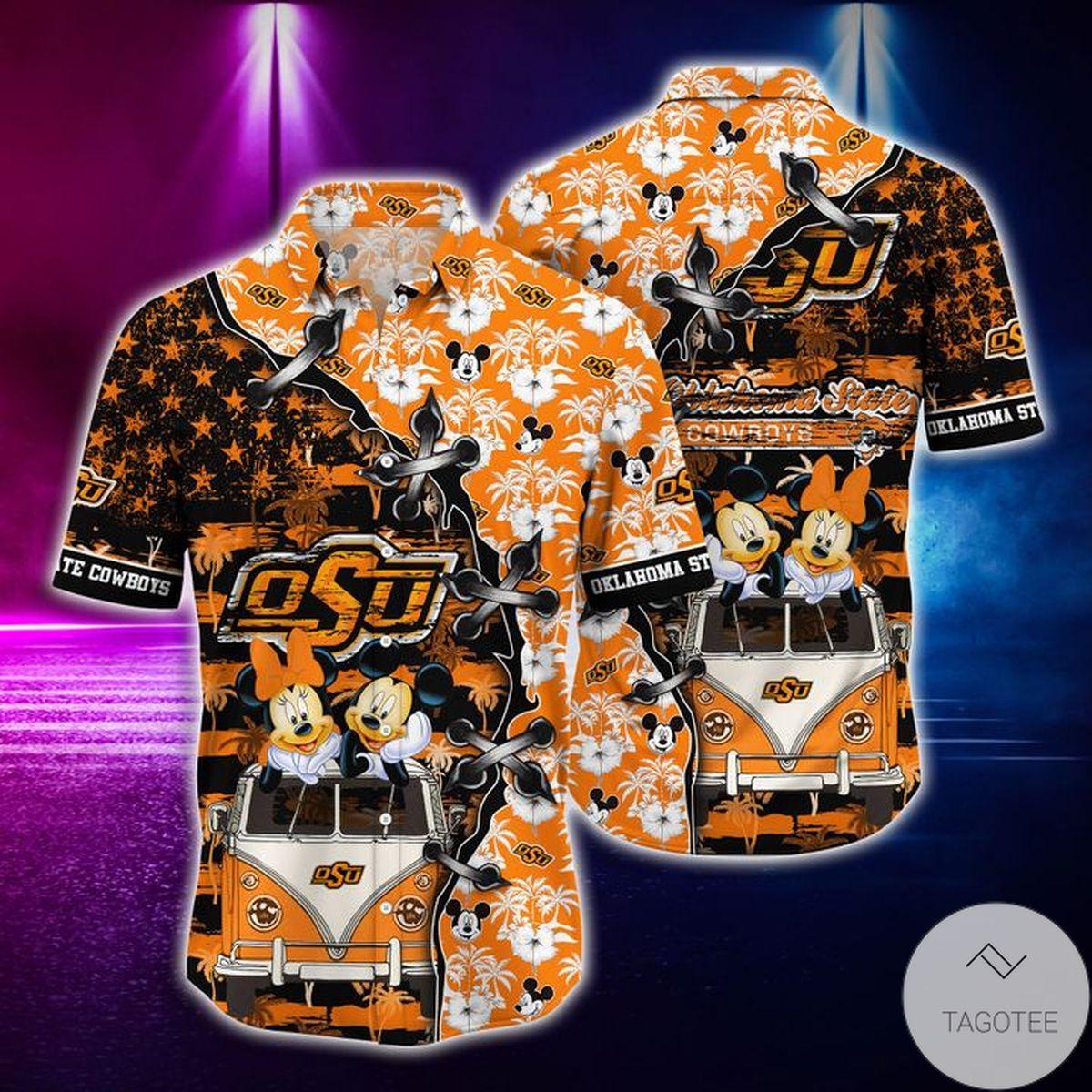 Mickey Mouse Oklahoma State Cowboys NCAA Hawaiian Shirt