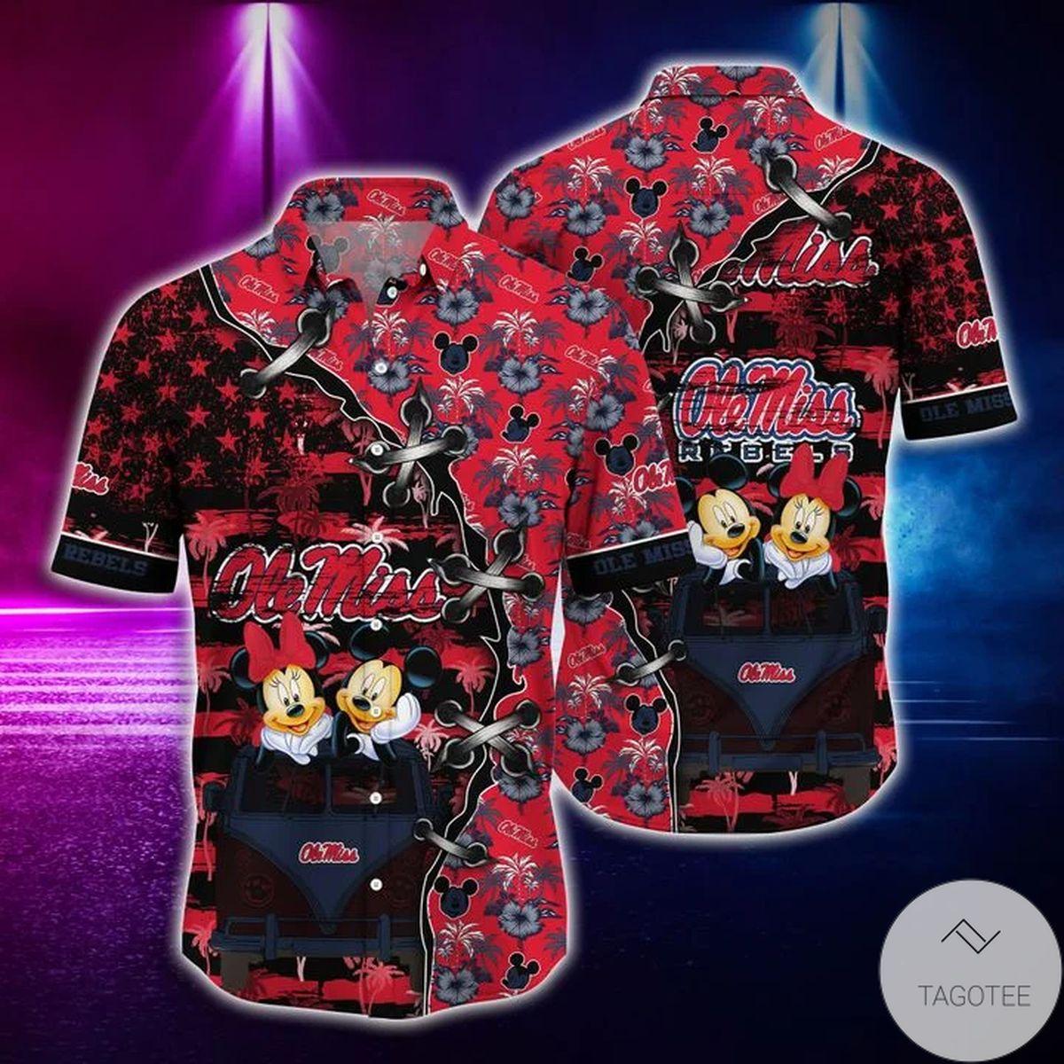 Mickey Mouse Ole Miss Rebels NCAA Hawaiian Shirt