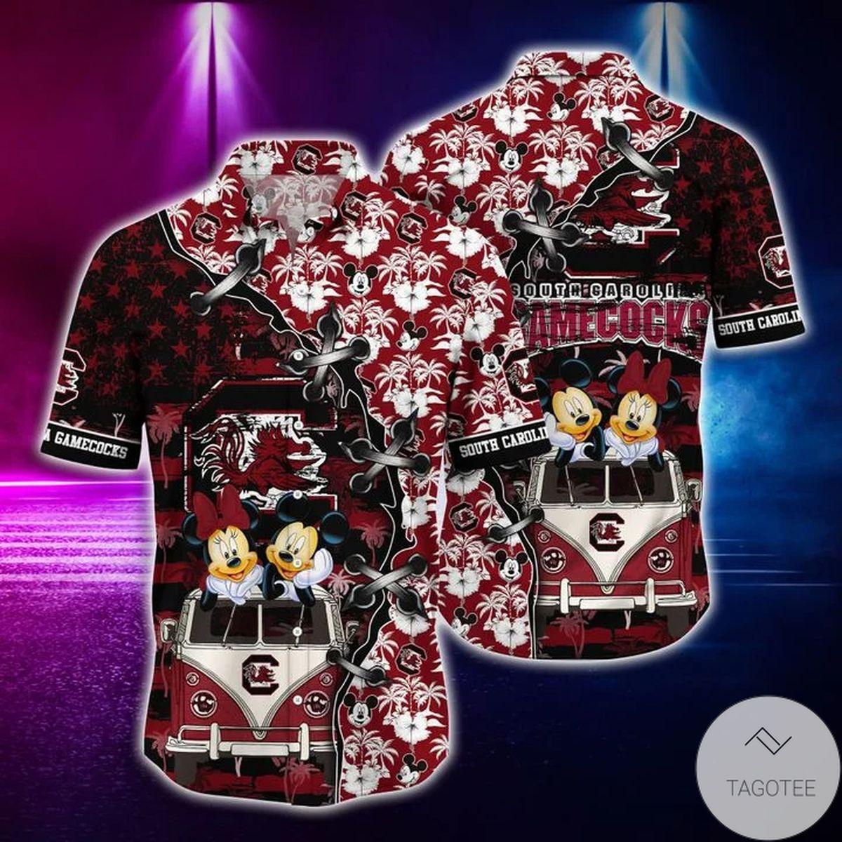Mickey Mouse South Carolina Gamecocks NCAA Hawaiian Shirt