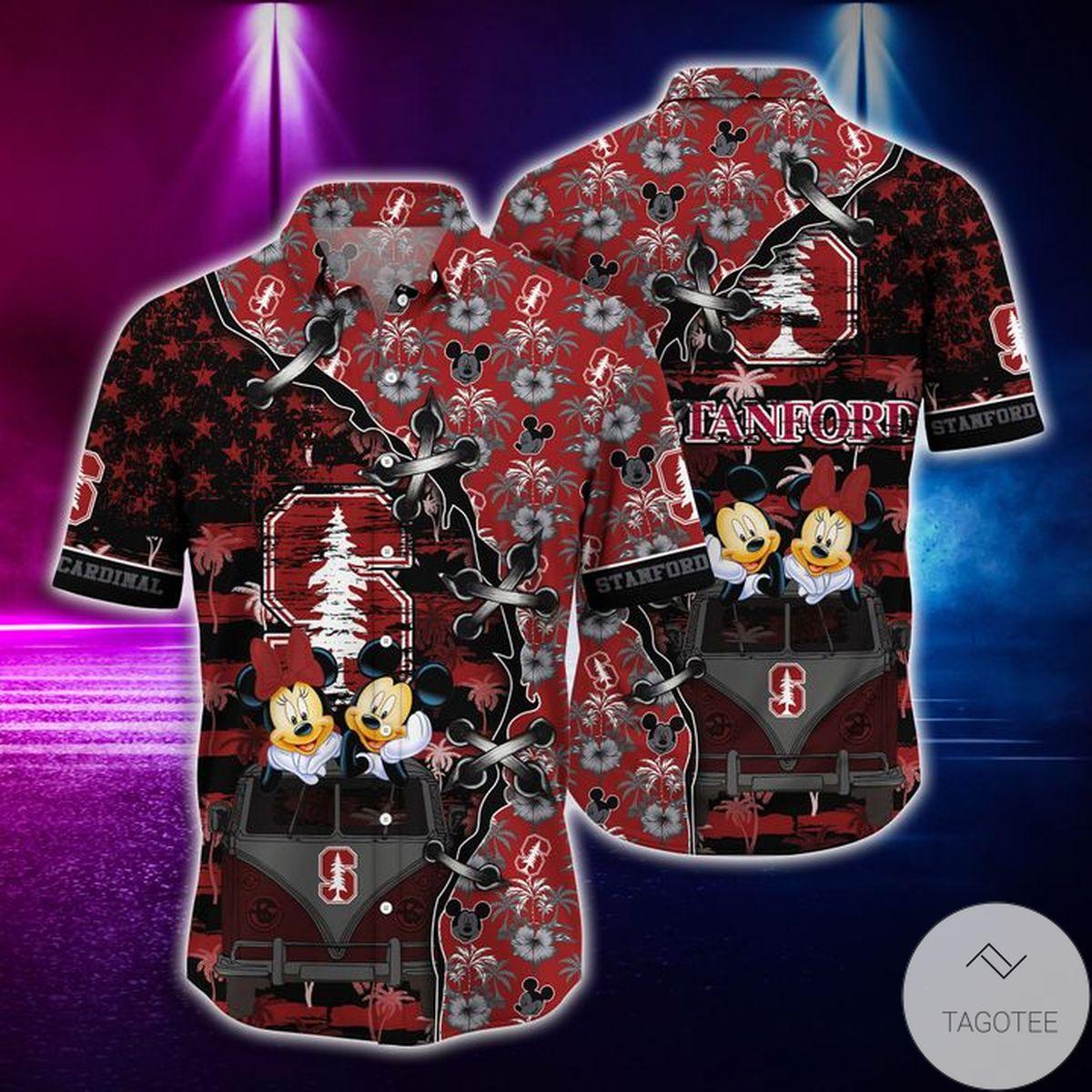 Mickey Mouse Stanford Cardinal NCAA Hawaiian Shirt