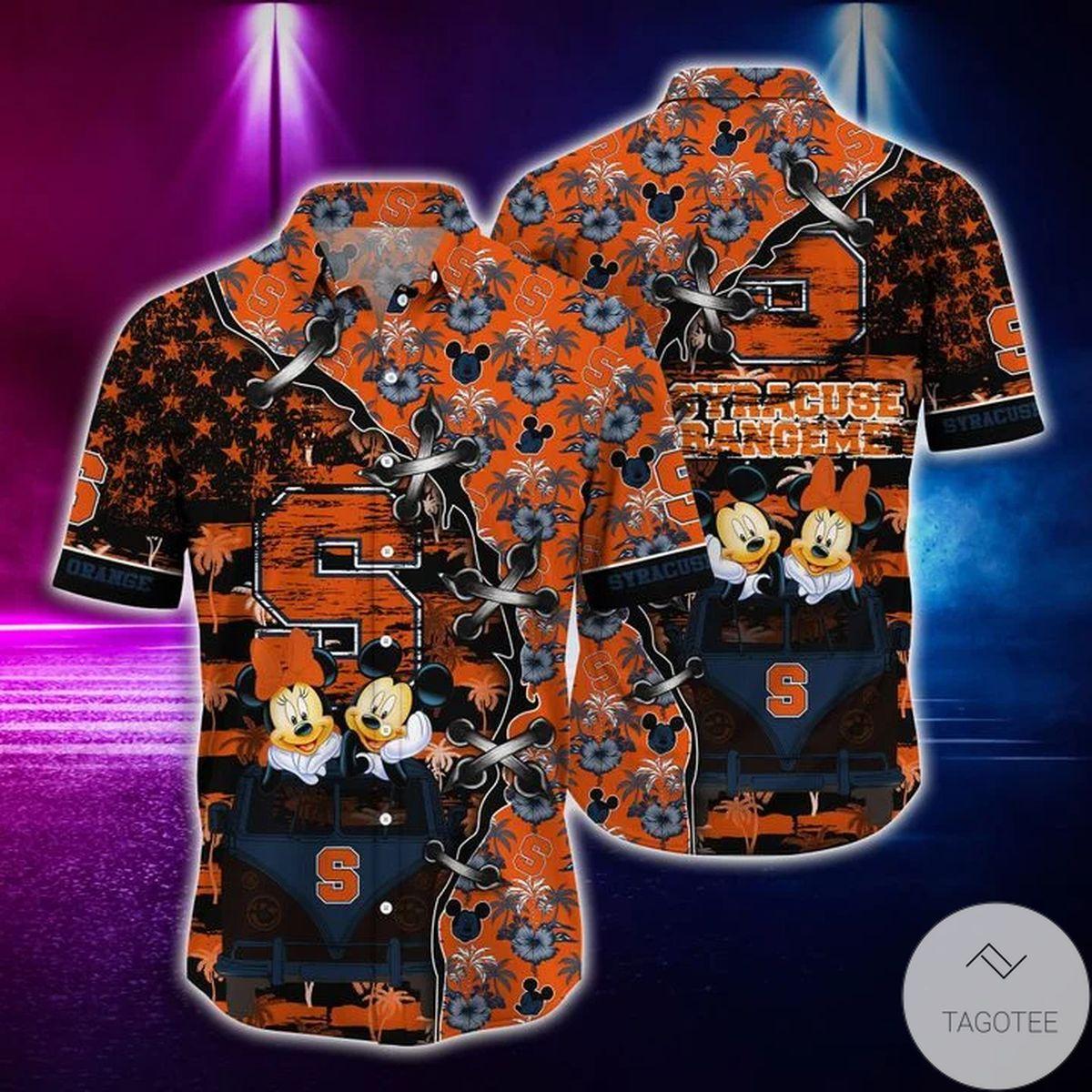 Mickey Mouse Syracuse Orange NCAA Hawaiian Shirt