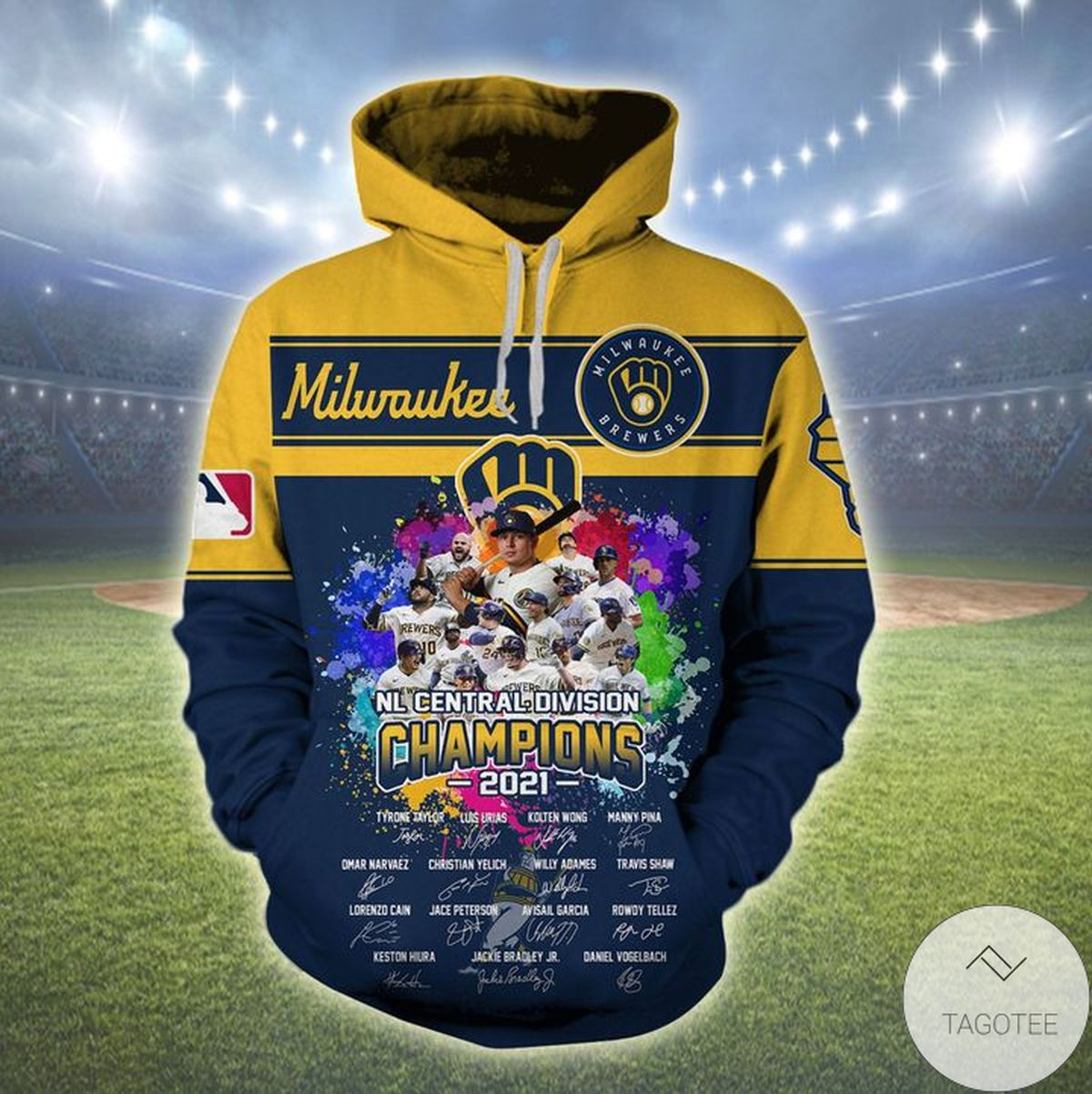 Milwaukee Brewers Nl Central Division Champion 2021 Hoodie