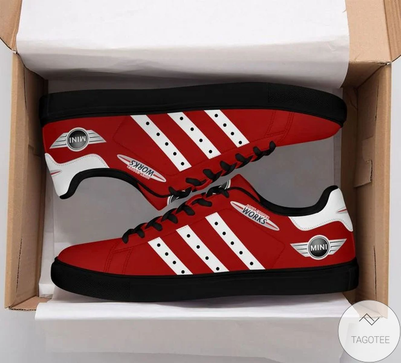 Mini John Cooper Works Red Stan Smith Shoes