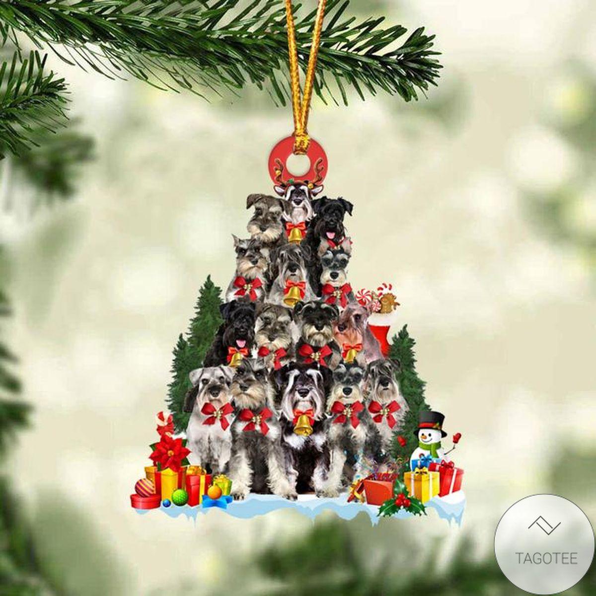 Miniature Schnauzer Dog Christmas Tree Ornament
