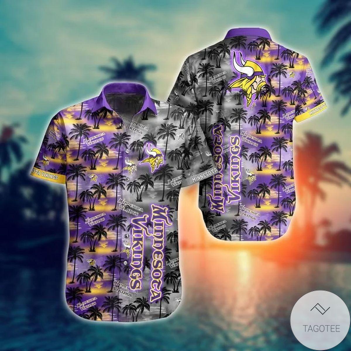 Handmade Minnesota Vikings NFL Hawaiian Shirt