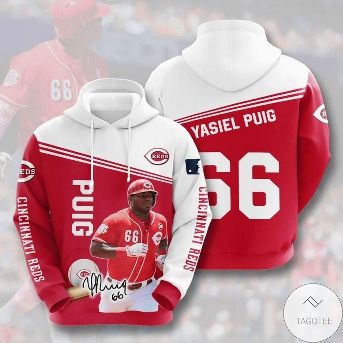 Mlb Cincinnati Reds Yasiel Puig 66 Hoodie