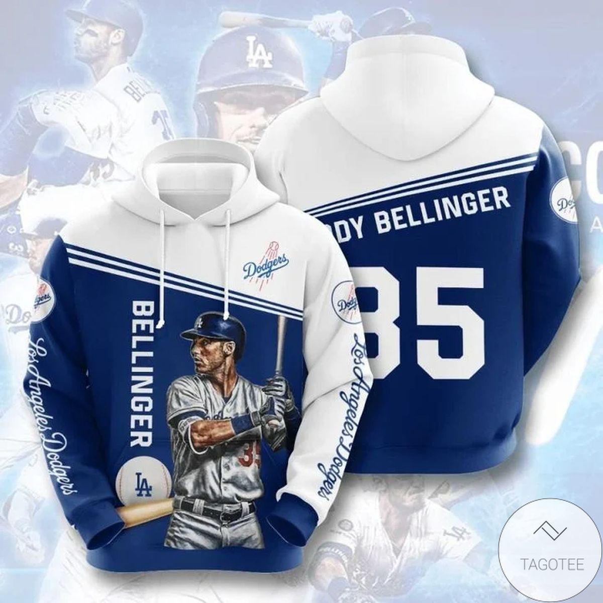 Mlb Los Angeles Dodgers Cody Bellinger 35 Hoodie