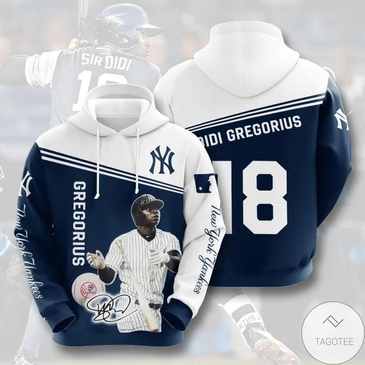 Mlb New York Yankees Didi Gregorius 18 Hoodie