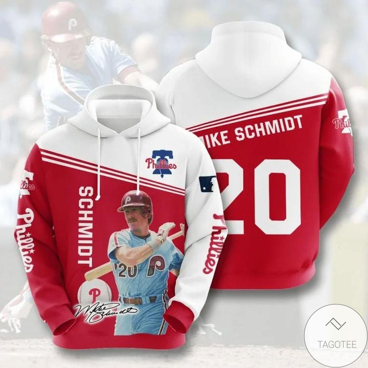 Mlb Philadelphia Phillies Mike Schmidt 20 Hoodie