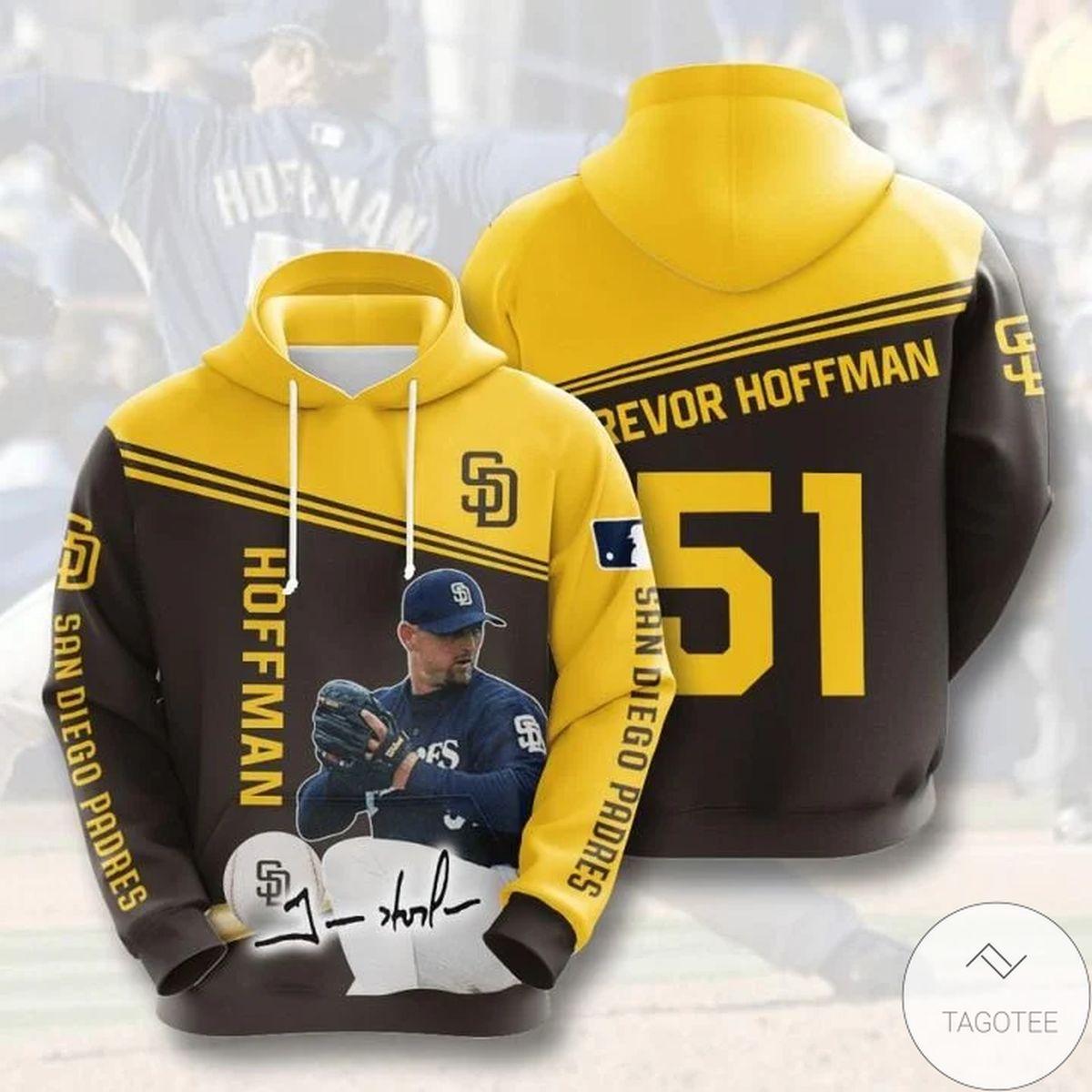 Mlb San Diego Padres Trevor Hoffman 51 Hoodie