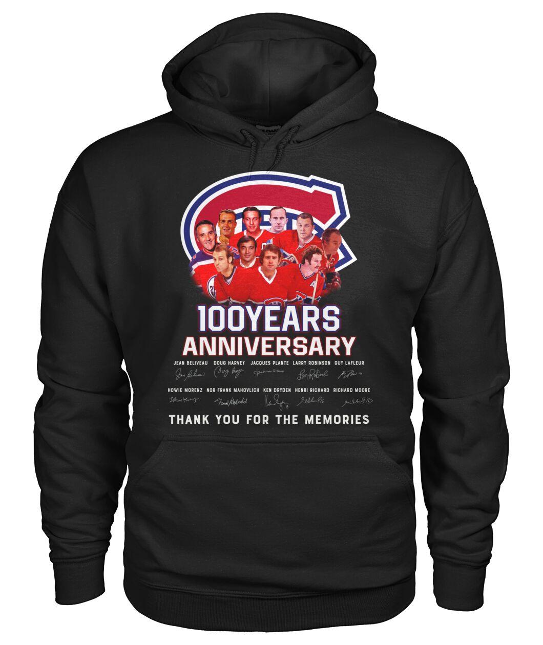 Montreal Canadiens 100 Years anniversary hoodie