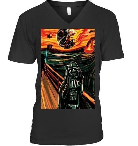Munch The Scream Darth Vader Star War V-neck